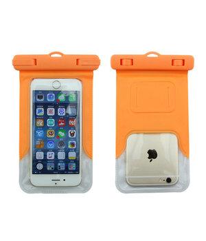 """Водонепроницаемый чехол с креплением на руку """"Waterproof Bag"""" оранжевый для iPhone"""