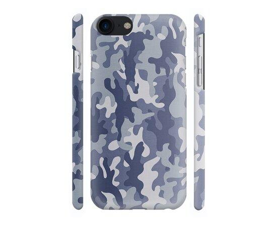 """Чехол """"iDAY"""" пластиковый для iPhone 7/8 Камуфляж синий"""