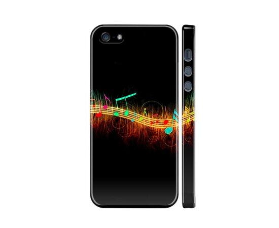 """Чехол """"iDAY"""" пластиковый для iPhone 5/5S/SE Волна нот"""