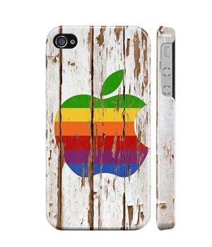 "Чехол ""iDAY"" пластиковый для iPhone 4/4S Apple дерево"