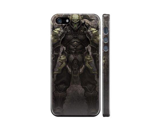 """Чехол """"iDAY"""" пластиковый для iPhone 5/5S/SE World of Warcraft - skull"""