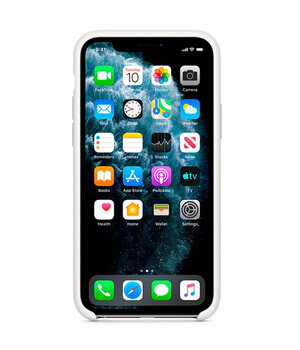 "Чехол Silicone case (AAA) для Apple iPhone 11 Pro Max (6.5"") Белый / White"