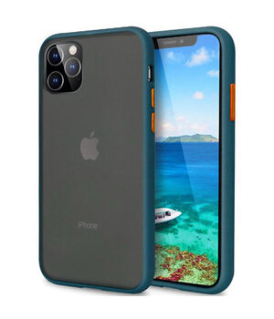 "TPU чехол LikGus Maxshield для Apple iPhone 11 Pro Max (6.5"") Сине-Зеленый / Marine Blue"