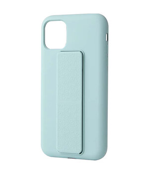 "Чехол Silicone Case Hand Holder для Apple iPhone 12 mini (5.4"") Бирюзовый / Ice Blue"