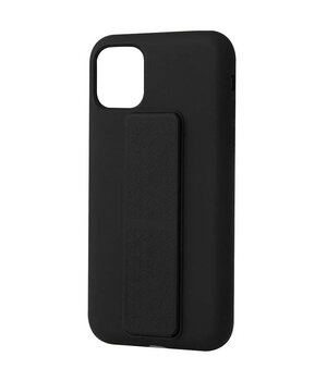 "Чехол Silicone Case Hand Holder для Apple iPhone 12 mini (5.4"") Черный / Black"