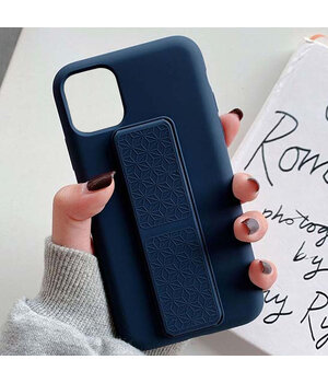 "Чехол Silicone Case Hand Holder для Apple iPhone 12 mini (5.4"") Темно-синий / Midnight blue"