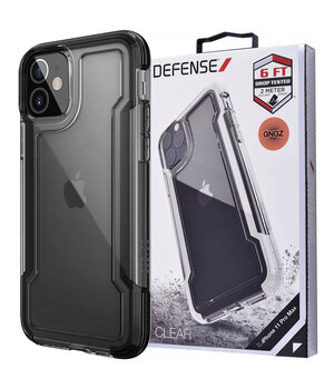 "Чехол Defense Clear Series (TPU+PC) для Apple iPhone 12 mini (5.4"") Черный"