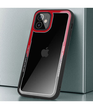 "TPU+PC чехол G-Case Shock Crystal для Apple iPhone 12 mini (5.4"") Черный / Красный"