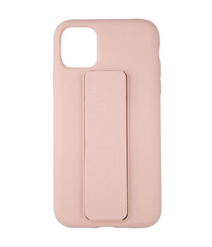 "Чехол Silicone Case Hand Holder для Apple iPhone 12 mini (5.4"") Розовый / Pink Sand"