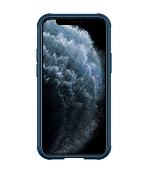 "Карбоновая накладка Nillkin Camshield (шторка на камеру) для Apple iPhone 12 mini (5.4"") Синий / Blue"