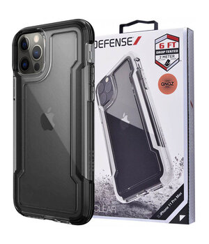"Чехол Defense Clear Series (TPU+PC) для Apple iPhone 12 Pro / 12 (6.1"") Черный"