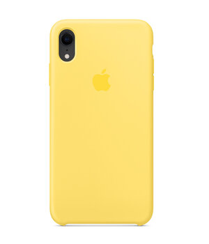 "Чехол Silicone case (AAA) для Apple iPhone XR (6.1"") Желтый / Canary Yellow"