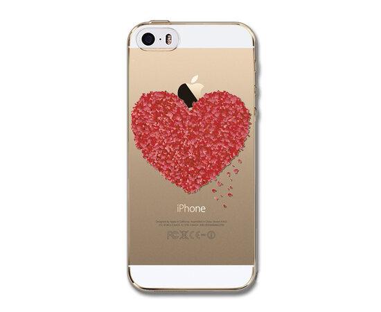 """Чехол """"Сердце"""" силиконовый для iPhone 5/5S/SE"""