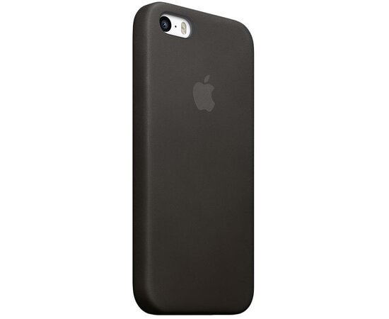 "Кожаный чехол ""Apple Leather Case"" Black (HC) для iPhone 5/5S/SE"