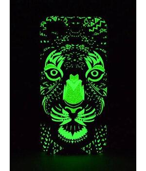 """Силиконовый светящийся 3D чехол """"Тигр"""" для iPhone 6 Plus/6S Plus"""