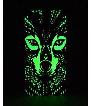 """Силиконовый светящийся 3D чехол """"Волк"""" яркий для iPhone 6 Plus/6S Plus"""