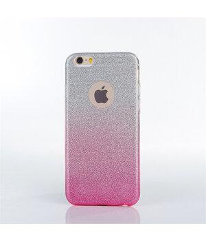 """Чехол с блестками """"Градиент"""" силиконовый для iPhone 6 Plus/6S Plus розовый"""