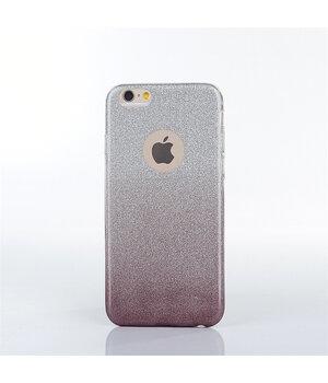 """Чехол с блестками """"Градиент"""" силиконовый для iPhone 6 Plus/6S Plus черный"""