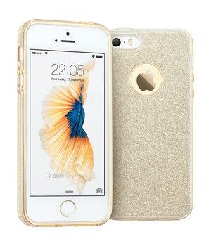 """Чехол с блестками """"Dazzling shine"""" силиконовый для iPhone 5/5S/SE золотой"""