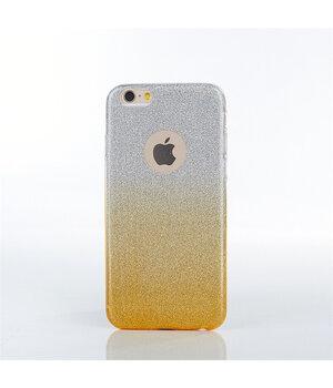 """Чехол с блестками """"Градиент"""" силиконовый для iPhone 6/6S желтый"""