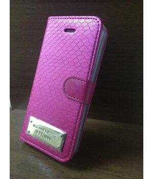 """Кожаный чехол-книжка """"Michael Kors"""" розовый для iPhone 6 Plus/6S Plus"""
