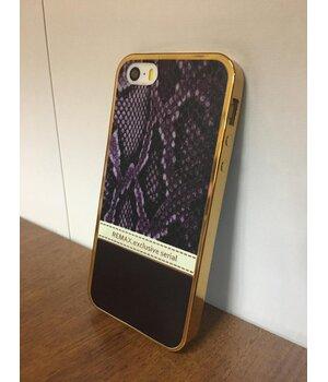 """Чехол """"Remax"""" силиконовый для iPhone 5/5S/SE Exclusive фиолетовый"""
