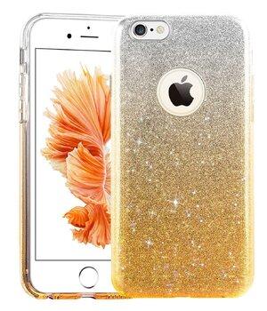 """Чехол с блестками """"Градиент"""" силиконовый для iPhone 5/5S/SE желтый"""