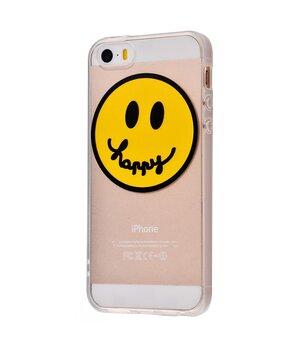 """Чехол """"Smile"""" силиконовый для iPhone 5/5S/SE Happy"""