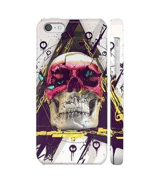 """Чехол """"iDAY"""" пластиковый для iPhone 5C Разноцветный череп"""