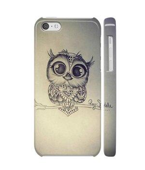 """Чехол """"iDAY"""" пластиковый для iPhone 5C Совенок"""