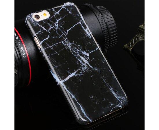 """Чехол """"Мраморный"""" пластиковый для iPhone 6/6S черный"""