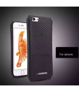 """Противоударный силиконовый чехол """"Motomo"""" черный для iPhone 6/6S"""