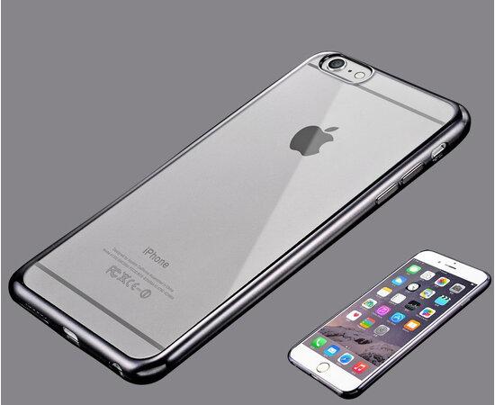 Силиконовый серый чехол прозрачный для iPhone 6 Plus/6S Plus