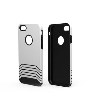 """Противоударный чехол """"Remax"""" Saman серебряный для iPhone 7/8"""