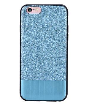 """Чехол с блестками """"Devia"""" Racy голубой для iPhone 6/6S"""