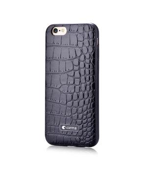 """Чехол из натуральной кожи """"Comma"""" Croco черный для iPhone 6 Plus/6S Plus"""