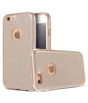 """Чехол с блестками """"Dazzling shine"""" силиконовый для iPhone 6 Plus/6S Plus золотой"""