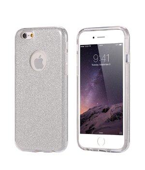 """Чехол с блестками """"Dazzling shine"""" силиконовый для iPhone 6 Plus/6S Plus серебряный"""