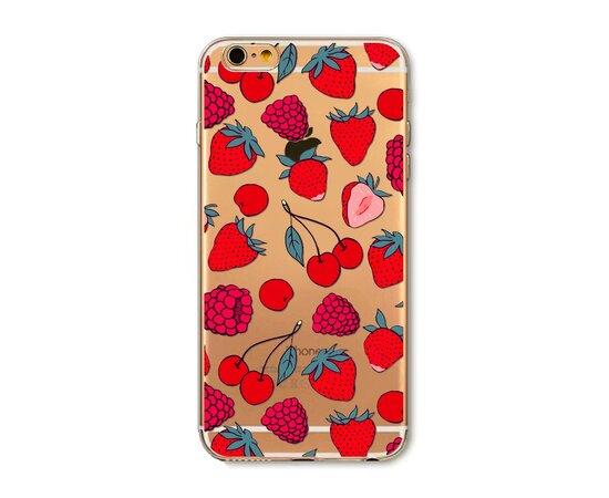 """Чехол """"Ягоды"""" силиконовый для iPhone 6/6S"""