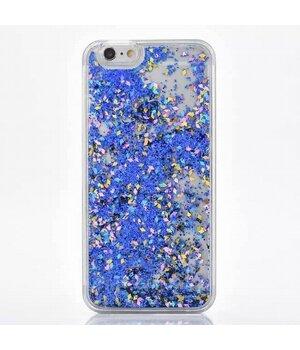 """Переливающийся пластиковый чехол """"Ромбики"""" синий для iPhone 6/6S"""