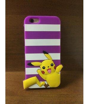 """Резиновый 3D чехол """"Pikachu"""" фиолетовый для iPhone 6/6S"""