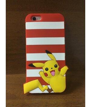 """Резиновый 3D чехол """"Pikachu"""" красный для iPhone 6/6S"""