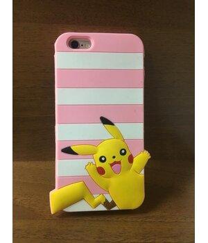 """Резиновый 3D чехол """"Pikachu"""" розовый для iPhone 6/6S"""