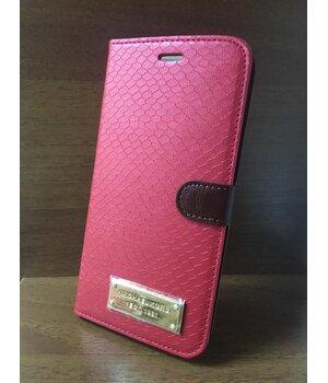 """Кожаный чехол-книжка """"Michael Kors"""" красный для iPhone 6 Plus/6S Plus"""