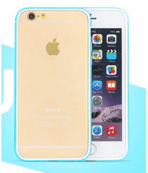 """Противоударный ультратонкий бампер """"Totu"""" Slim голубой для iPhone 6/6S"""