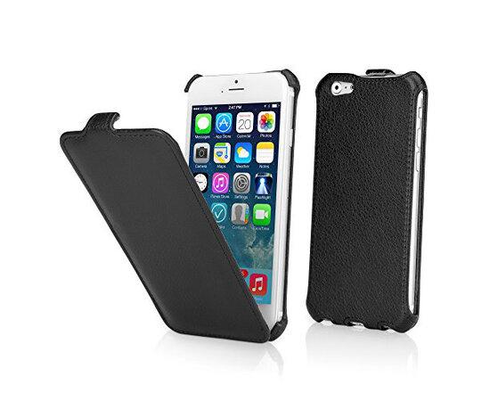 """Кожаный чехол флип """"imperium"""" черный для iPhone 6/6S"""