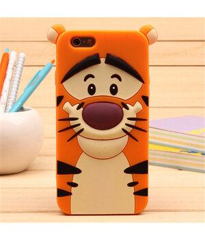"""Резиновый 3D чехол """"Tiger"""" для iPhone 6/6S"""