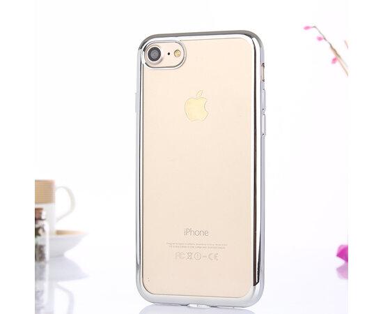 Силиконовый серебряный прозрачный чехол для iPhone 7/8