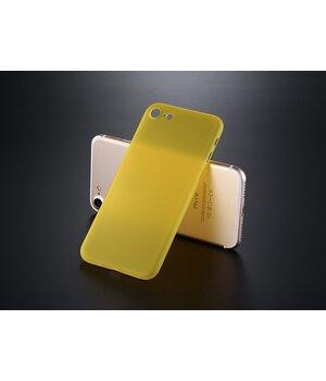 """Ультратонкий пластиковый чехол """"Ultrathin 0.3mm"""" желтый для iPhone 7/8"""