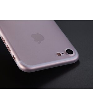"""Ультратонкий пластиковый чехол """"Ultrathin 0.3mm"""" белый для iPhone 7/8"""